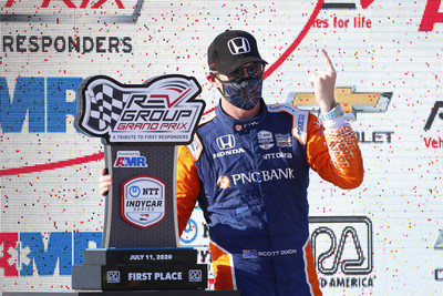Scott Dixon made it three-for-three in the first race of an NTT INDYCAR SERIES doubleheader weekend at Road America, with Honda also scoring it's third INDYCAR victory in as many races Saturday at Road America in Wisconsin. Race two is Sunday at 12 p.m. EDT.