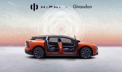 HiPhi X and Givaudan announce exclusive partnership to curate premium unique fragrances onboard HiPhi vehicles.