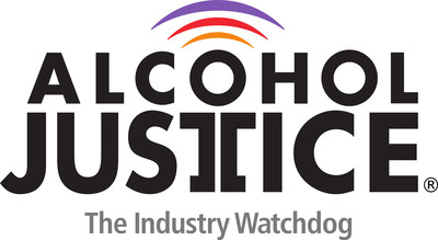 Alcohol Justice logo.
