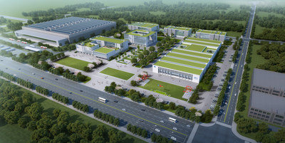 Site Plan Rendering of the Sino – German (Changzhou) Innovation Park