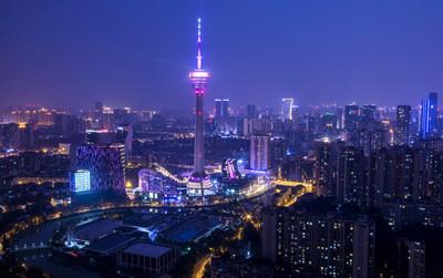 La escena nocturna de Chengdú (PRNewsfoto/成都每经传媒有限公司)