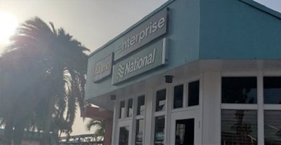 Enterprise Rent-A-Car se une a National Car Rental y Alamo Rent A Car en Aruba. La marca también se lanzó en Panamá y se expandió a Brasil.
