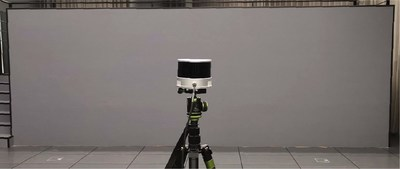 PandarXT scanning a wall at 6 m to measure wall thickness
