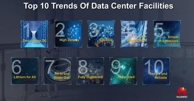 Huawei lanza las diez mejores tendencias en instalaciones de centros de datos