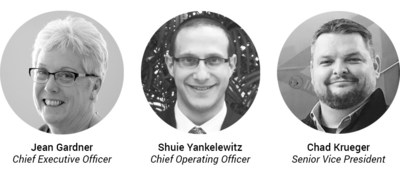 (Left to Right) Chief Executive Officer Jean Gardner, Chief Operating Officer Shuie Yankelewitz and Senior Vice President Chad Krueger.