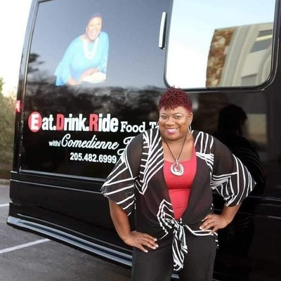 """Comedienne Joy, who is known for her """"Bham Eat. Drink. Ride. Food Tours"""" and """"Dining Out with Comedienne Joy"""" television show, is a member of the first class of YWCA Central Alabama's WE360 Business Essentials program."""