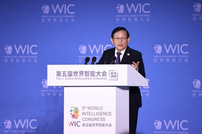 Wan Gang, Vice Chairman of the National Committee of the Chinese People's Political Consultative Conference (CPPCC) and President of China Association for Science and Technology, delivers a keynote speech.