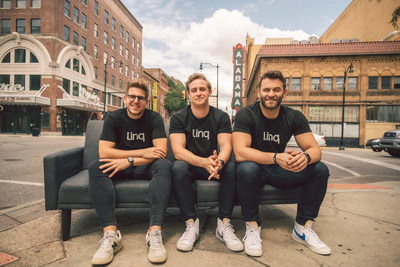 Linq App co-founders (from left to right): Patrick Sullivan, CTO; Elliott Potter, CEO; and Jared Mattsson, COO