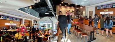 King Coffee Store inside