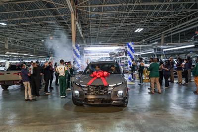 Hyundai Motor Manufacturing Alabama (HMMA) celebrated the launch of the all-new 2022 Santa Cruz Sport Adventure Vehicle on Tuesday, June 22, 2021.