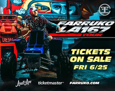 "FARRUKO ""LA 167 TOUR"" TICKETS ON SALE"