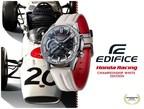 Casio lanzará el modelo EDIFICE en colaboración con Honda Racing, con el color «Championship White»